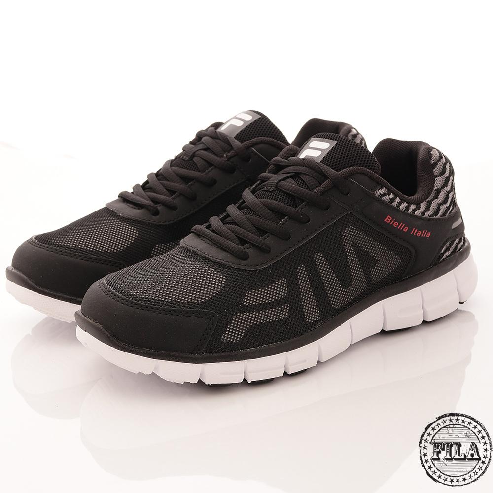 FILA 男鞋 輕量透氣 舒適運動鞋 黑(1-J906R-044)