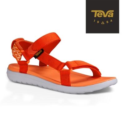 TEVA 美國 女 Sanborn Universal 輕量織帶涼鞋 (百合橘)