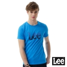 Lee 短袖T恤 藍色漸層LOGO印刷排汗質材 -男女款(藍)