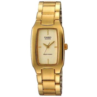 CASIO 清新時尚酒桶型指針腕錶(LTP-1165N-9C)白X金/22mm