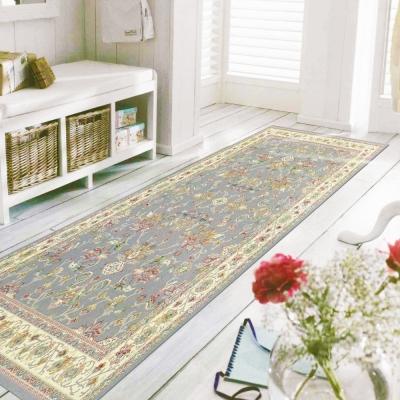 范登伯格-蘇菲亞-進口絲質地毯-蝶印-灰-67-x