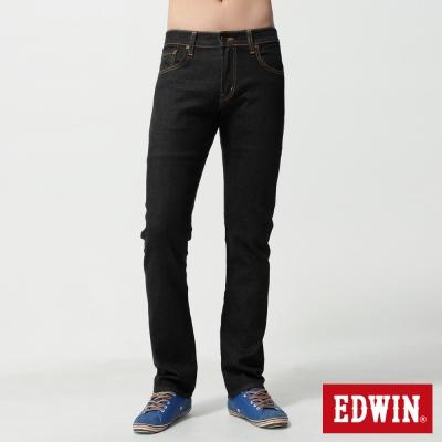 EDWIN-窄直筒503ZERO無接縫牛仔褲-中性-黑色