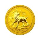 澳洲柏斯生肖紀念幣-澳洲2018狗年生肖金幣(1/4盎司)