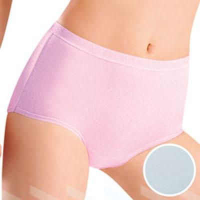 華歌爾-新伴蒂內褲M-LL中腰一般裾三角款-淺水藍