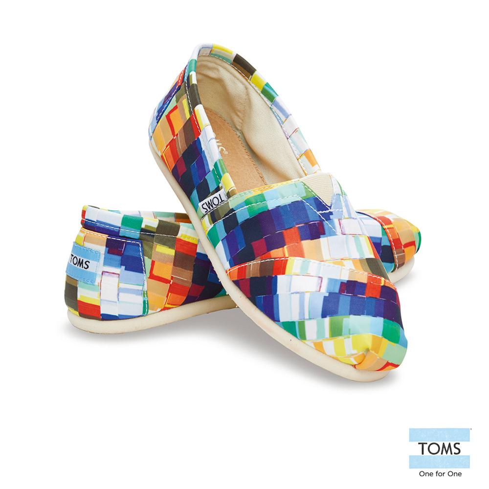 TOMS 經典馬賽克拼貼懶人鞋-女款(彩)