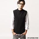 素色中高領針織背心 ZIP日本男裝