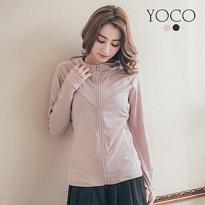 東京著衣-yoco 美力女孩-輕薄防曬連帽運動外套-S.M(共二色)