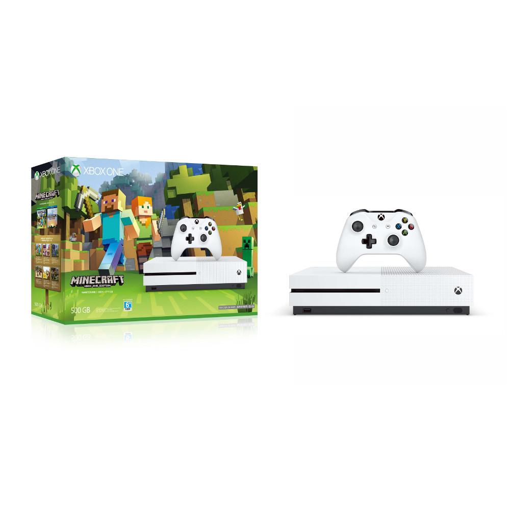 Microsoft Xbox One S 500GB我的世界同捆組軟體拆封無鑑賞期