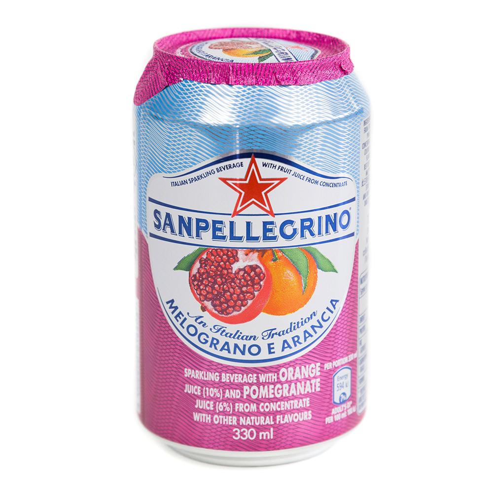 聖沛黎洛 氣泡水果飲料-柑橘紅石榴口味(330mlx12入)