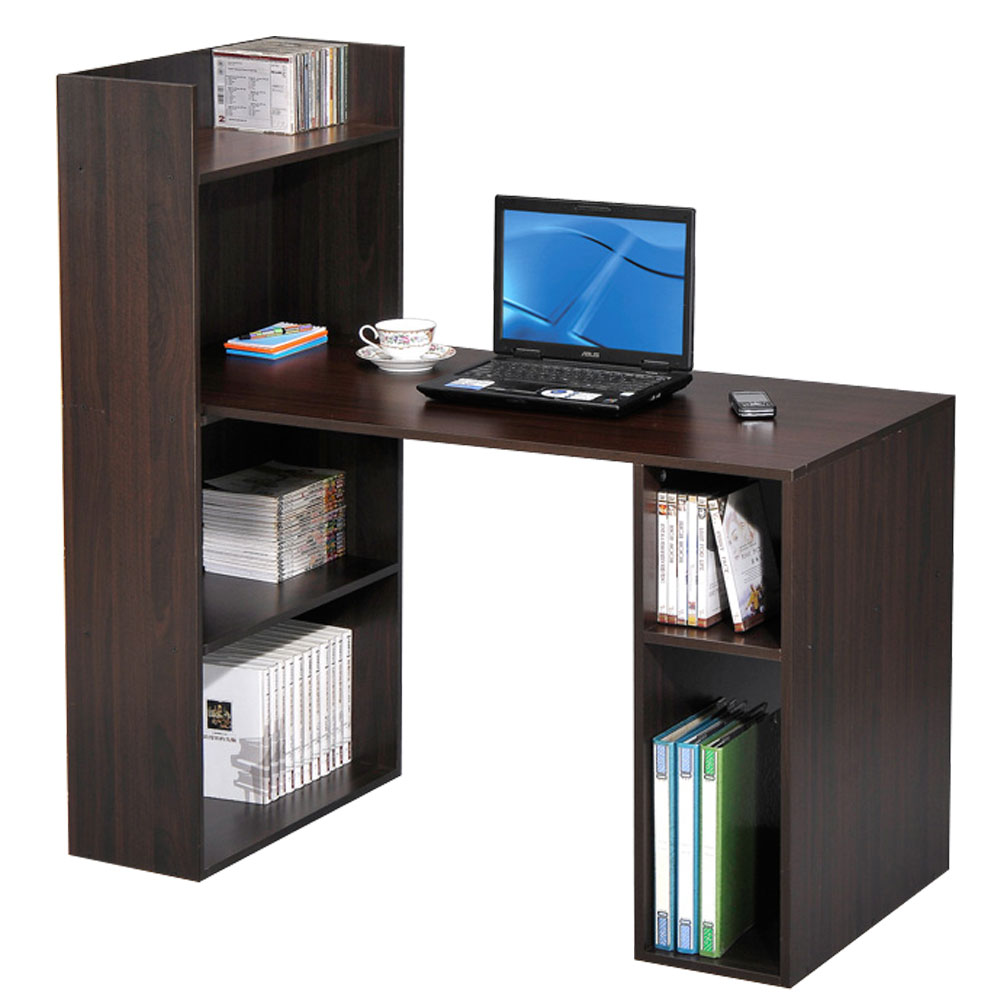 Design 多用途書櫃式電腦書桌(二色)