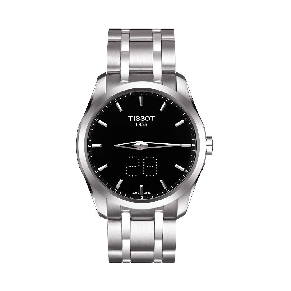 TISSOT Couturier 系列 Date時尚腕錶-黑/39mm