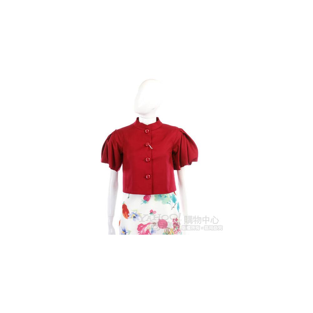 MOSCHINO 紅色膨袖短版小外套