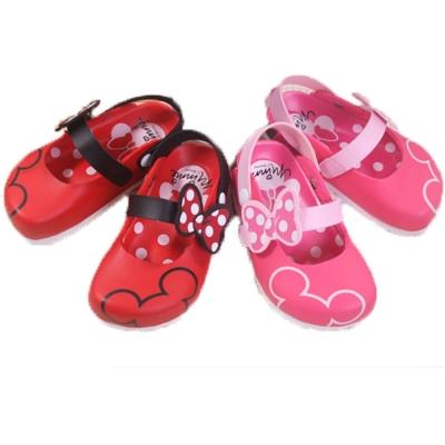 魔法Baby台灣製專櫃款米妮正版女童半包鞋sh6838