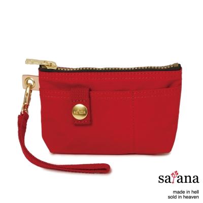satana - 實用拉鍊化妝包/零錢包 - 中國紅