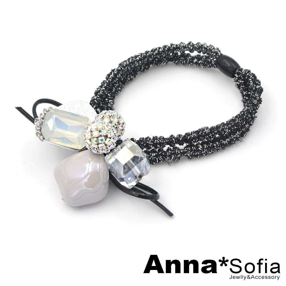AnnaSofia 氣質晶球雅石多墬 純手工彈性髮束髮圈髮繩