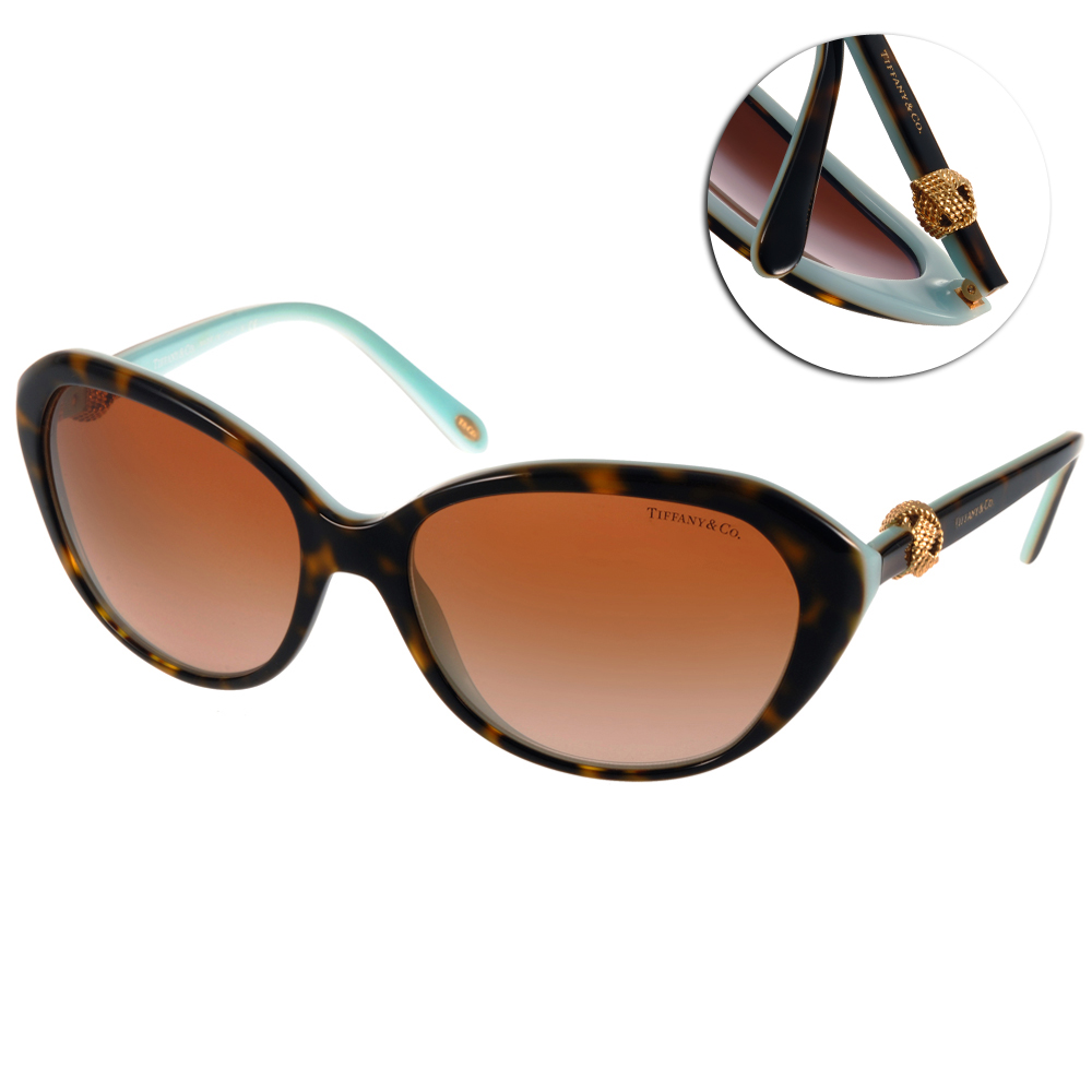 Tiffany&CO.太陽眼鏡 經典百搭系列/琥珀棕#TF4098 81343B