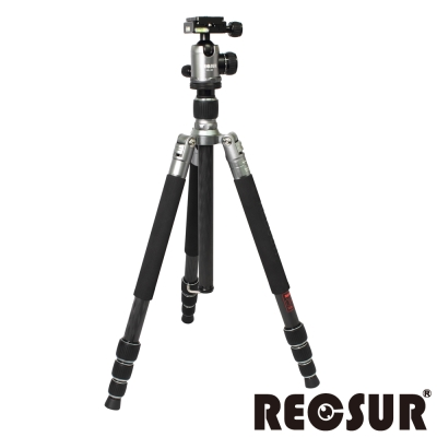RECSUR 銳攝 RS-3224C+VQ-20 四節反折式碳纖腳架-羅馬鈦