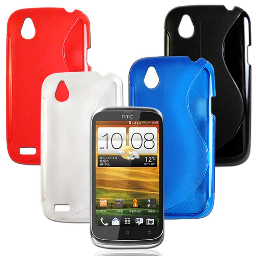 VXTRA HTC Desire V T328W 拼色混搭水晶套
