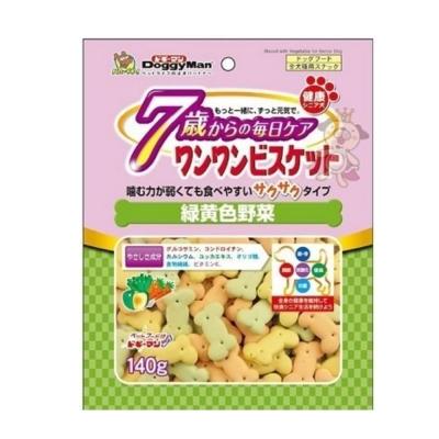 日本DoggyMan《7歲以上老犬專用野菜餅乾》140g (兩包組)