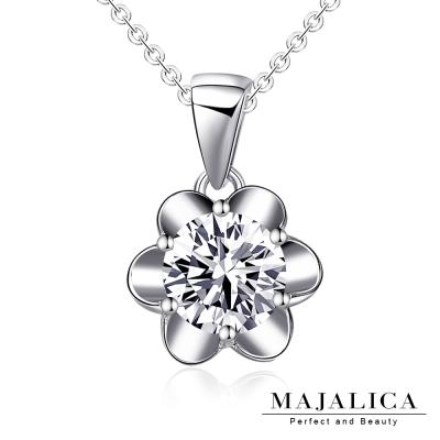 Majalica 純銀項鍊 花朵美鑽 925純銀 八心八箭