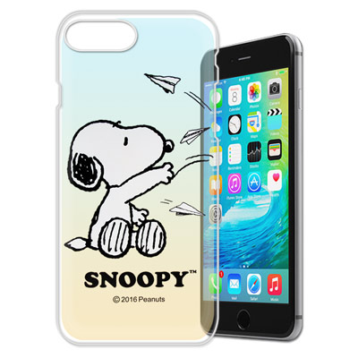 史努比/SNOOPY iPhone 8 Plus/ 7 Plus 漸層彩繪軟式手...