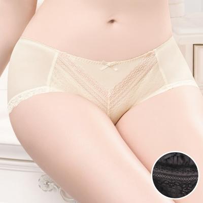 華歌爾 粉水2UP系列 M-LL 低腰平口褲(時尚黑)