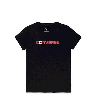 CONVERSE-女休閒短T恤10003578-A02-黑