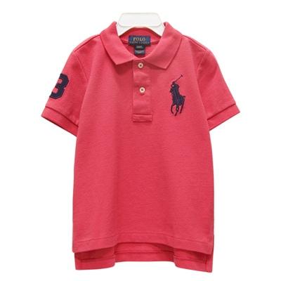 Ralph Lauren 男童數字3經典大馬短袖POLO衫-粉紅色(2/2T)