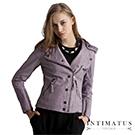 【真皮皮衣】豐富細節時髦小羊皮皮衣-薰衣草紫色INTIMATUS