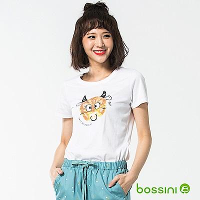 bossini女裝-印花短袖T恤42白