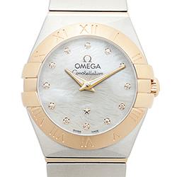 OMEGA 歐米茄星系列 短波紋玫瑰金珍珠貝母腕錶-24mm