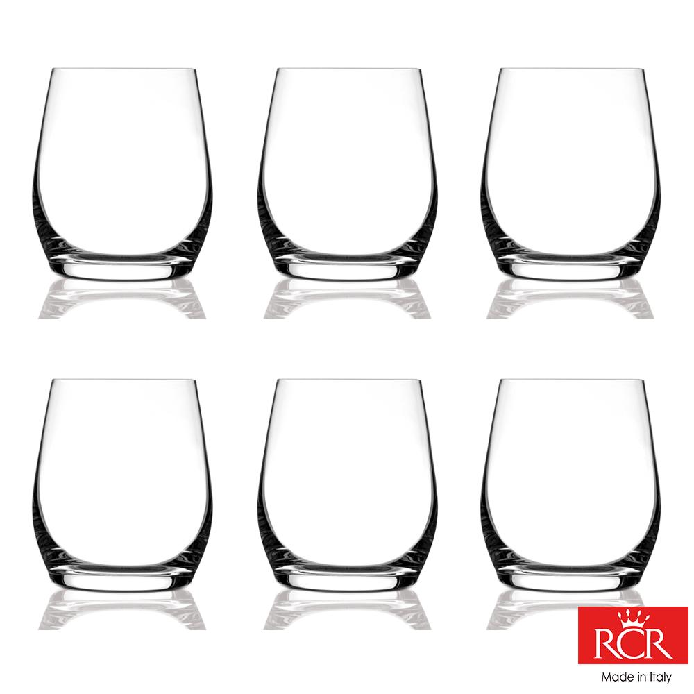 義大利RCR茵芙曼無鉛水晶威士忌杯(6入)_370cc