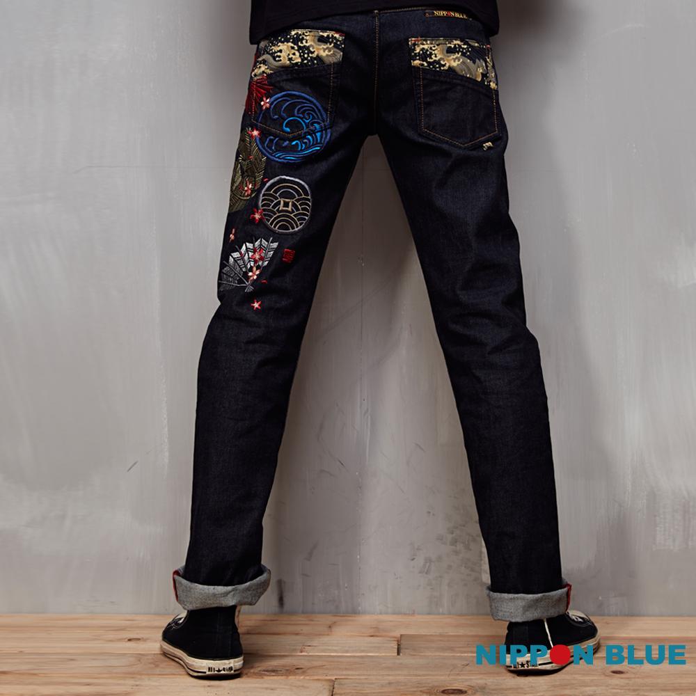 日本藍 BLUE WAY 宮本武藏五倫書低腰直筒褲