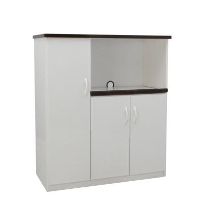 品家居 艾亞 3 . 2 尺環保塑鋼三門餐櫃(二色可選)- 97 x 43 x 112 . 5 cm免組