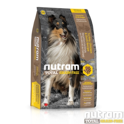 Nutram紐頓 T23無穀潔牙犬 火雞配方 犬糧 11.34公斤 x 1包