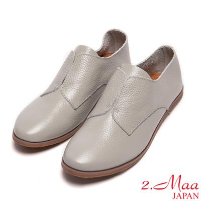 2.Maa-真皮-經典設計款平底色鞋-灰