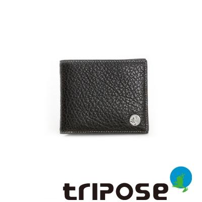 tripose  Yuppie系列荔枝紋男短夾 - 深咖