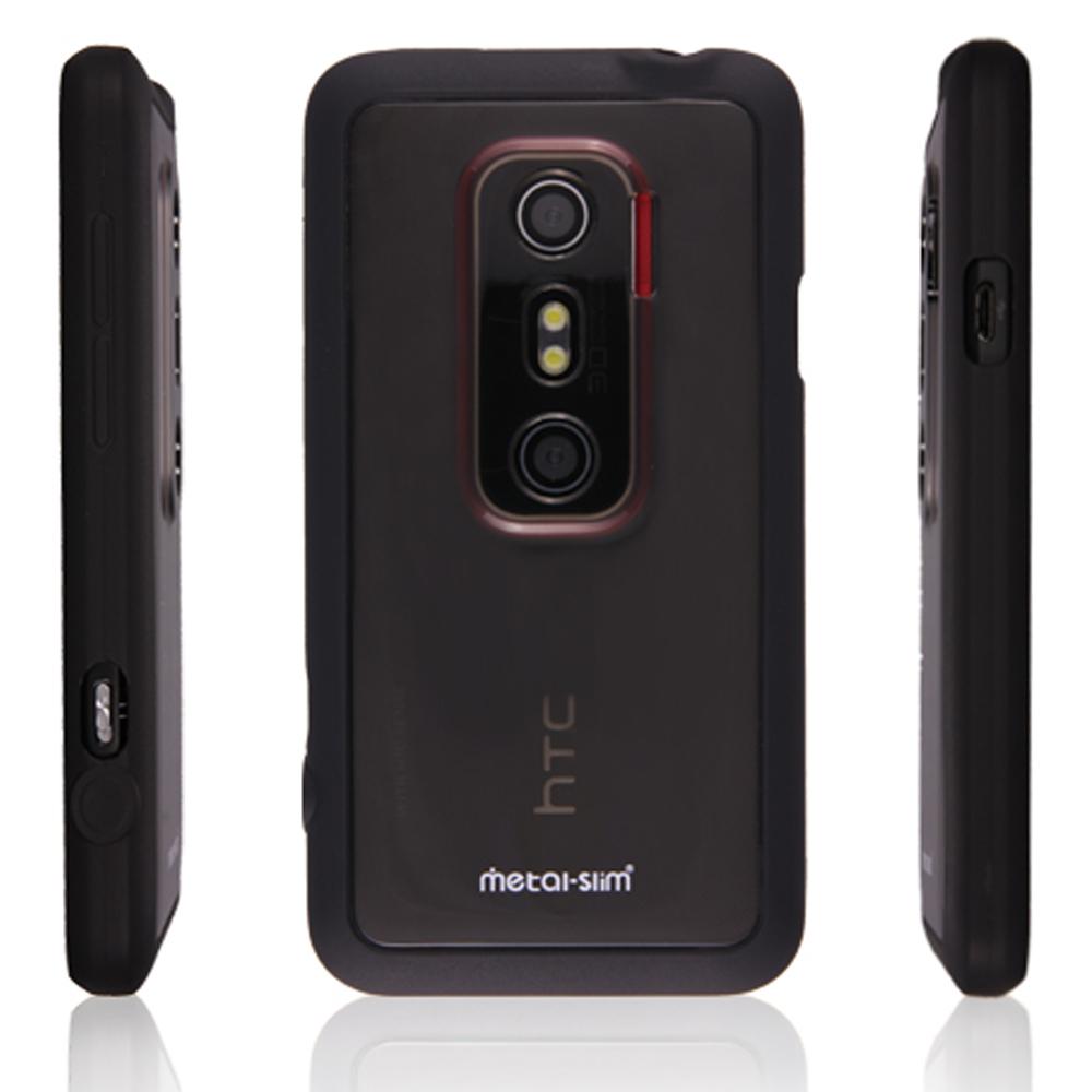 Metal-Slim 透明黑 HTC Shooter/EVO 3D,混搭保護組