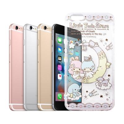 三麗鷗授權正版 雙子星 iPhone 6s 4.7吋 透明空壓防震殼(月亮)