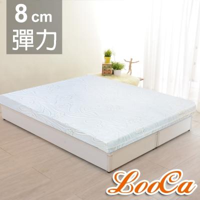 LooCa 溫感塑型全平面8cm緹花記憶床墊-單人3尺