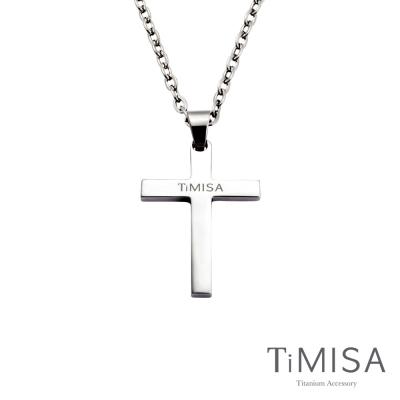TiMISA《簡約十字(M)》純鈦項鍊