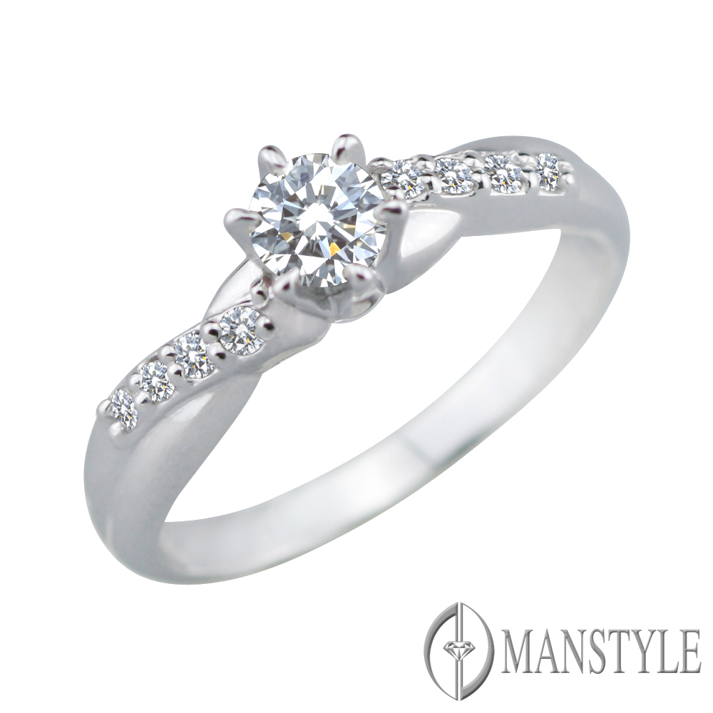 MANSTYLE 茱麗葉 0.30ct 八心八箭 鑽石戒指