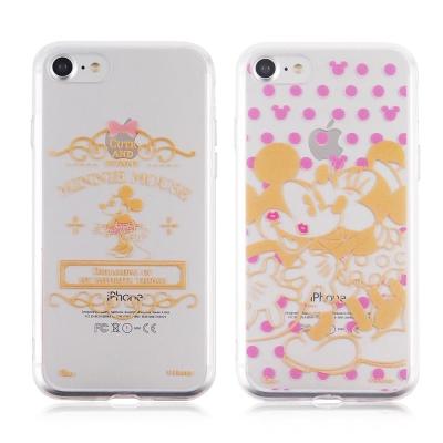Disney迪士尼iPhone 7金蒔繪雙料彩繪保護殼-米奇米妮