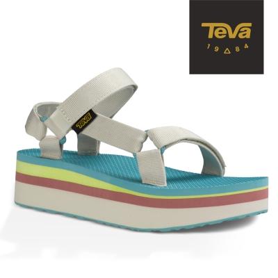 TEVA 美國-女 Flatform Universal 織帶厚底涼鞋 (粉彩白)
