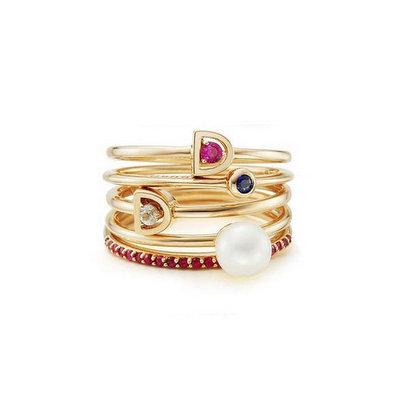 ACUBY  鋼製五件組戒指