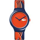Lacoste Goa 鱷魚法式玩色運動時尚錶-藍/40mm