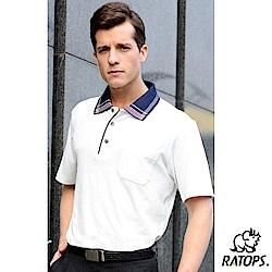【瑞多仕-RATOPS】男 PP 輕量透氣短袖POLO衫_DB8601 米白 V