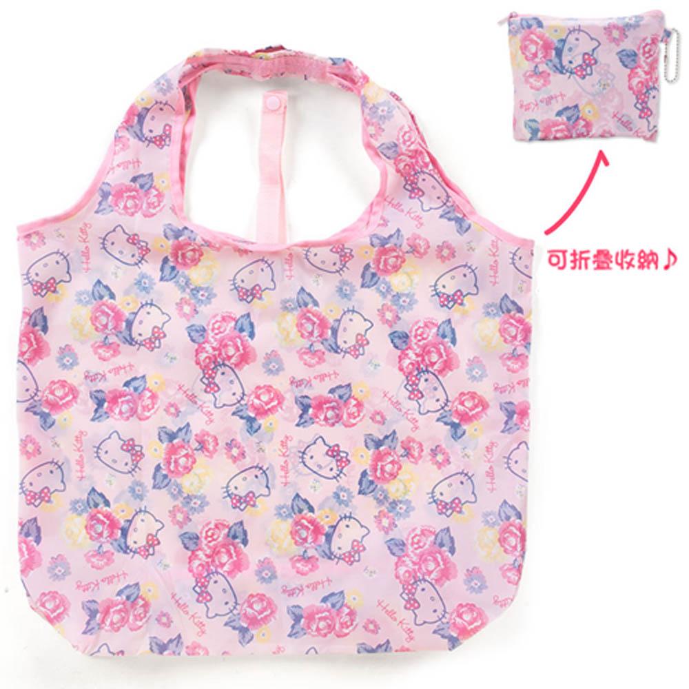 Sanrio HELLO KITTY環保購物袋L(繽紛薔薇)