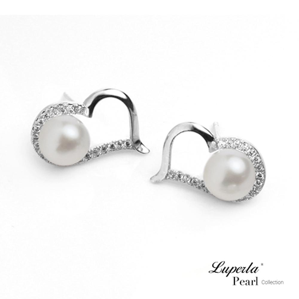 大東山珠寶 星座愛情淡水珍珠純銀晶鑽耳環 唯愛珍心