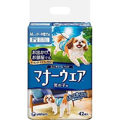 Unicharm消臭大師 公狗用紙尿褲 小~中型犬用《42枚入》
